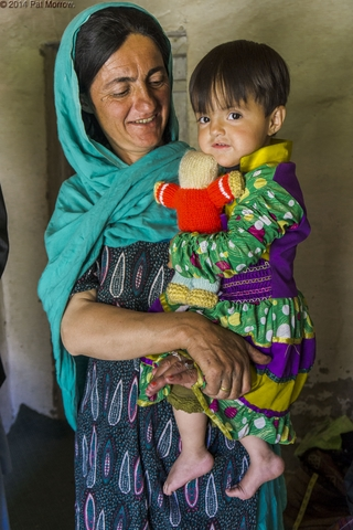 Amran Jan Dario''s wife Haji Bibi and child, Zood Khun village, Chipurson Valley, tributary of Hunza Valley, Pakistan